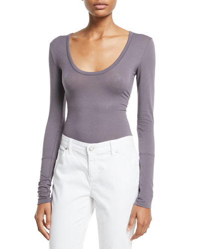 Free People Easy Peasy Long-Sleeve Bodysuit