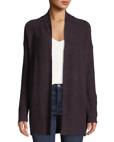 Lilla P. Boucle-Knit Open Front Cardigan