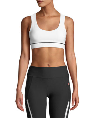 X BY GOTTEX Support & Control Crisscross-Back Sports Bra in White