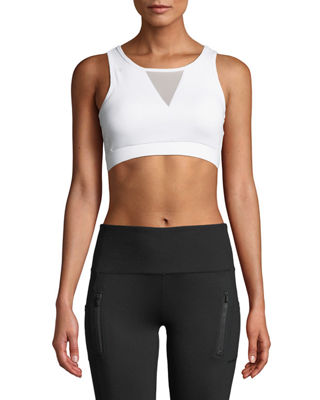 X BY GOTTEX Mesh Cutout Padded Sports Bra in White