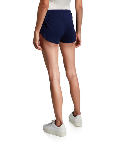 Scalloped Drawstring Sleep Shorts