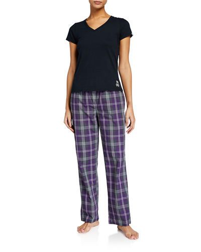 Plaid Pants with T-Shirt Gift Set