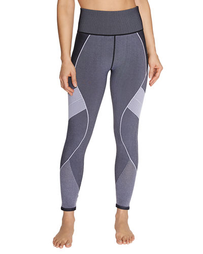 Mapped Stripe Seamless Leggings