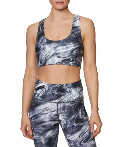 Liquid Swirl Racerback Sports Bra