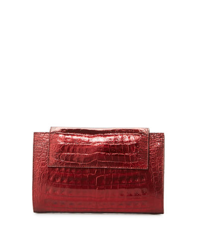 Flap Crocodile Clutch Bag