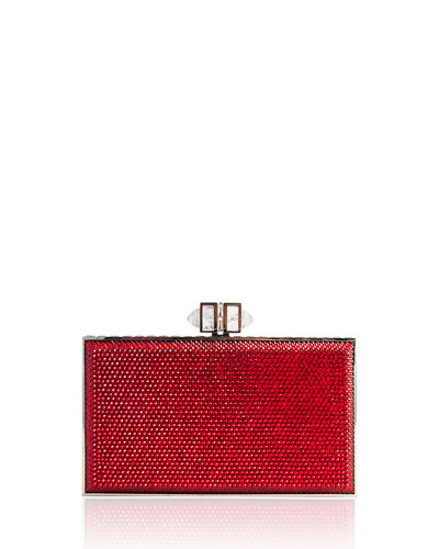 Crystal Coffered Rectangle Clutch Bag