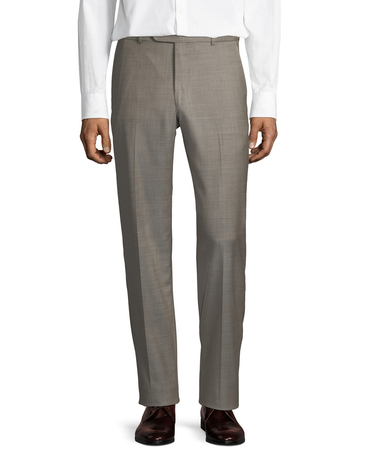 Wool Straight-Leg Trousers