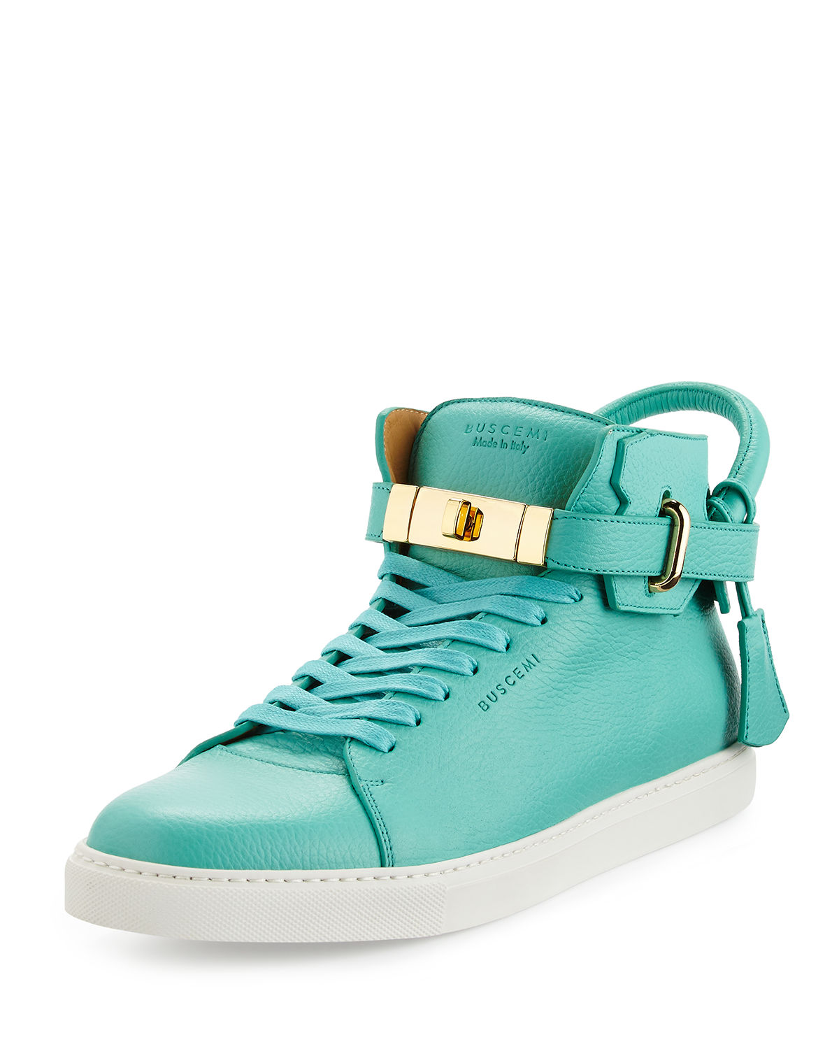 100mm Leather High Top Sneaker