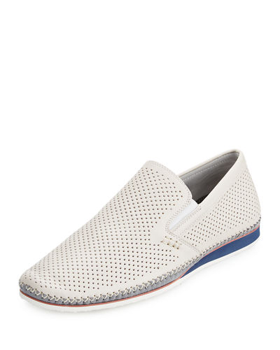 Merz Perforated Leather Slip-On Sneaker