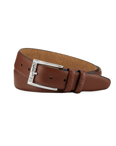 Martin Embossed Leather Belt