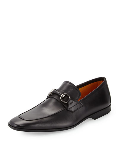 Magnanni for Neiman Marcus Leather Bit Loafer