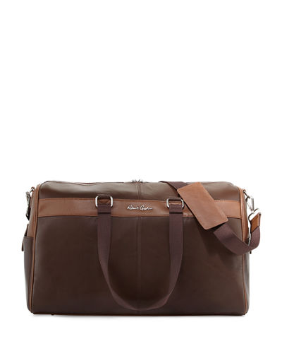 Siran Leather Duffel Bag, Brown