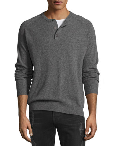 Cashmere Three-Button Sweater