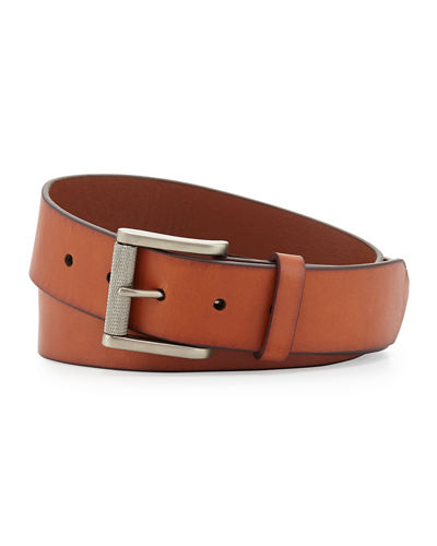 Leather 38MM Buckle Belt