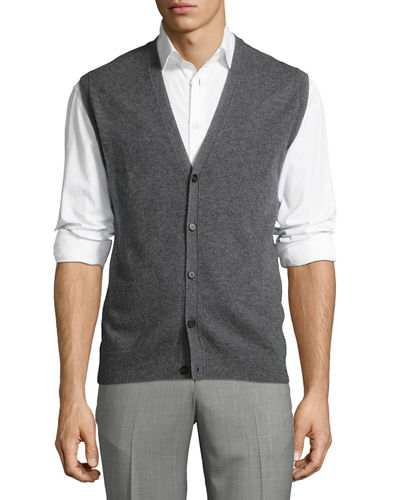 Cashmere Button Sweater Vest