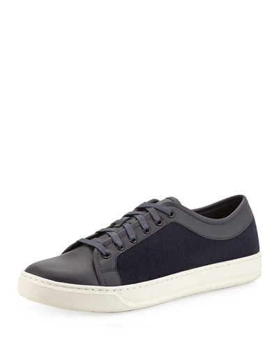 Ashton Leather & Felt Low-Top Sneaker