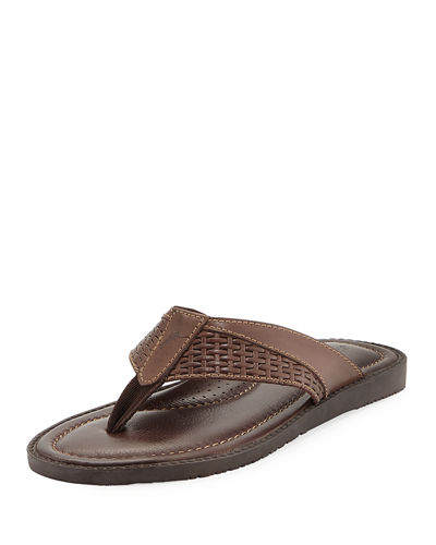 Anchors Astern Leather Flat Thong Sandals
