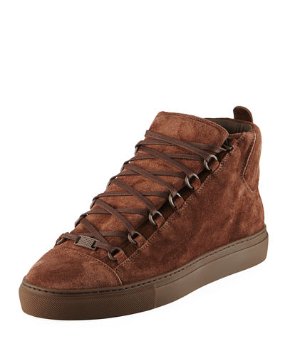 Men's Arena Suede Mid-Top Sneakers