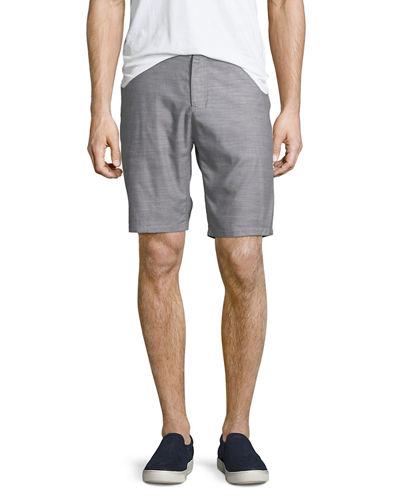 Tailored Mixed-Yarn Shorts
