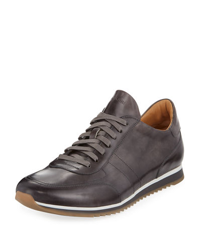 Men's Hand-Antiqued Calf Sneakers