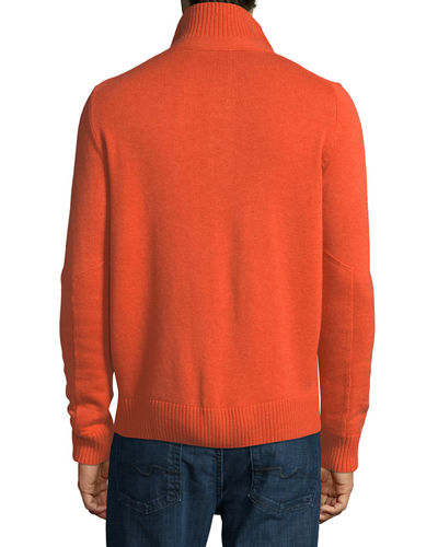 Wool-Cashmere Blend Mock-Neck Sweater