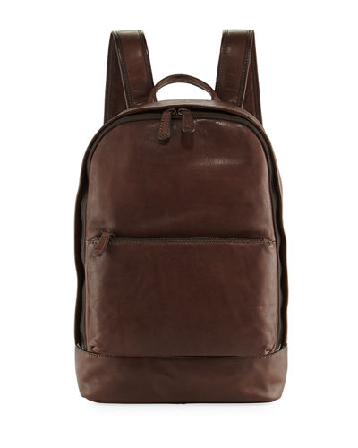 Chris Leather Zip-Around Backpack