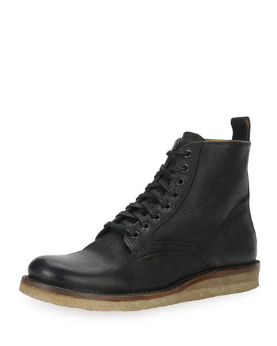 Philip Crepe Lace-Up Boot