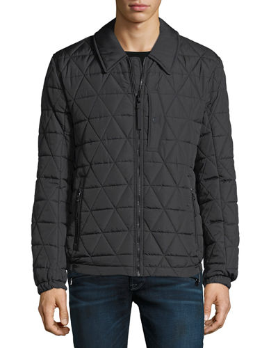 Quilted Mechanic-Style Jacket