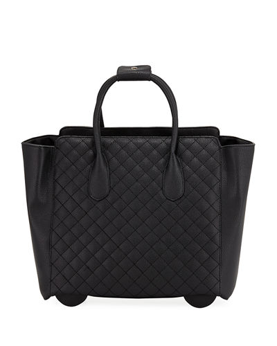 KC Jagger Camilla Quilted Faux-Leather Rolling Bag