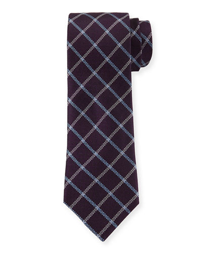 Windowpane Silk Tie