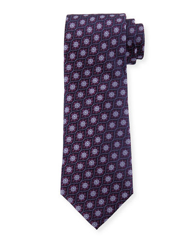 Ornate Neat Silk Tie