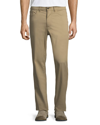 LUCIANO BARBERA Stretch-Cotton 5-Pocket Pants - Beige/Tan Size 32