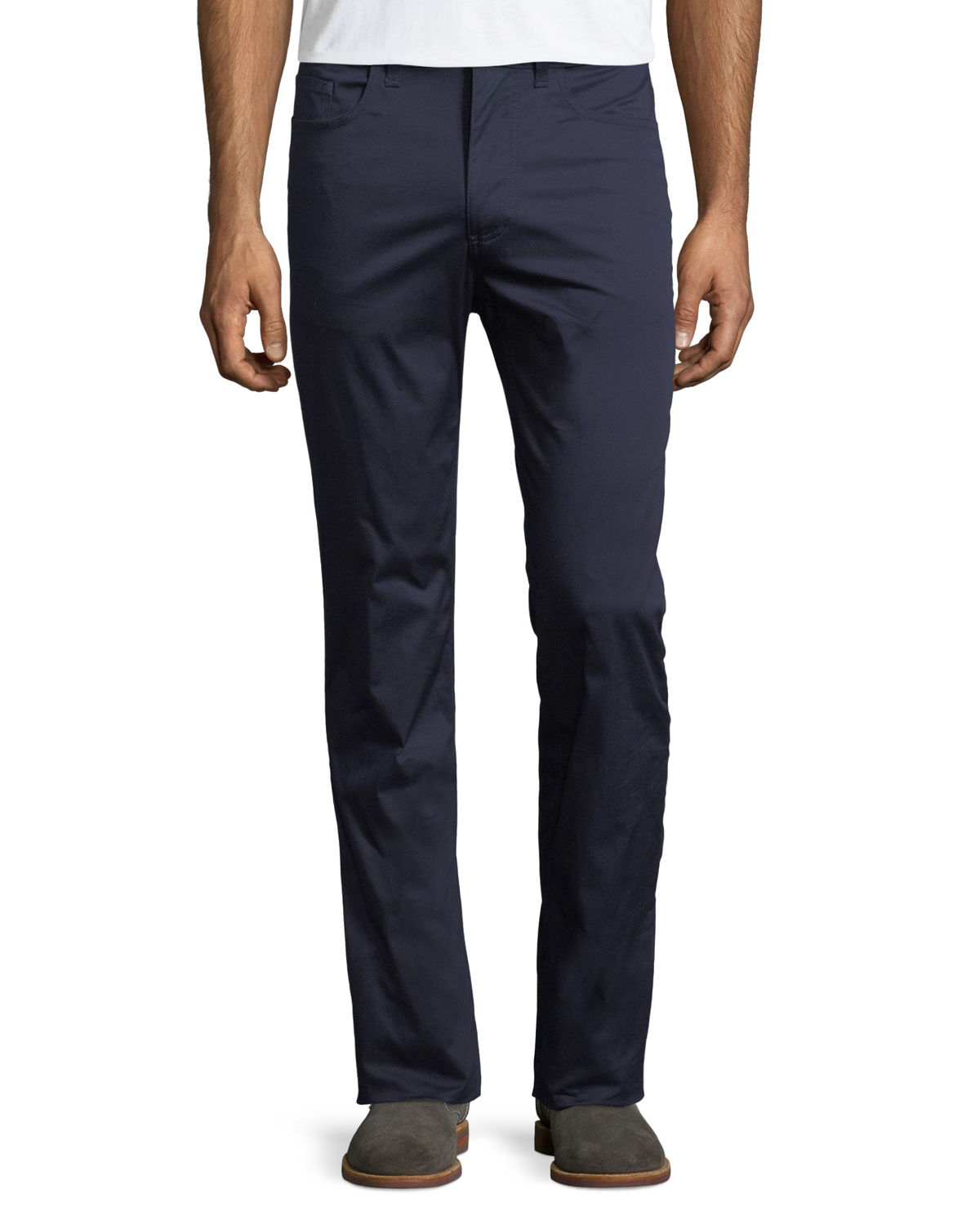 Five-Pocket Straight-Leg Trouser Pants