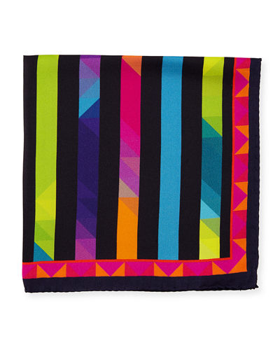 Silk Striped Pocket Square