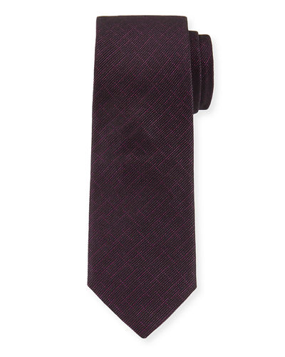 Metallic-Knit Silk Tie