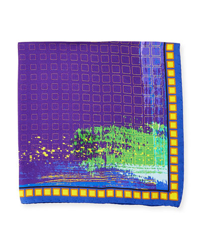 Graphic-Print Pocket Square