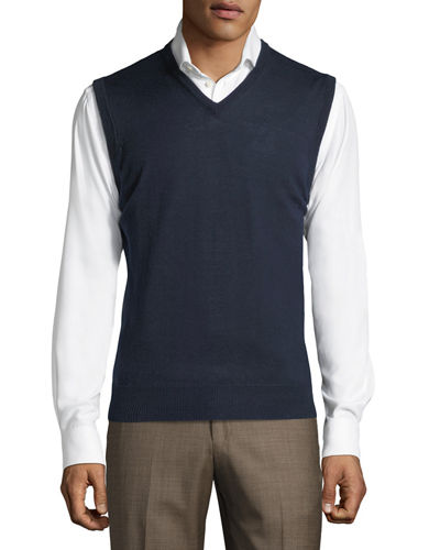V-Neck Sweater Vest w/ Tipping