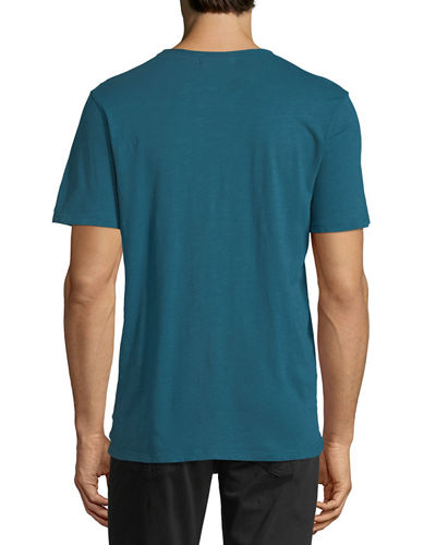 Crewneck Cotton Pocket T-Shirt
