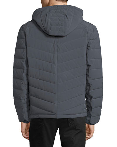 Delavan 4-Way Stretch Packable Hooded Down Jacket