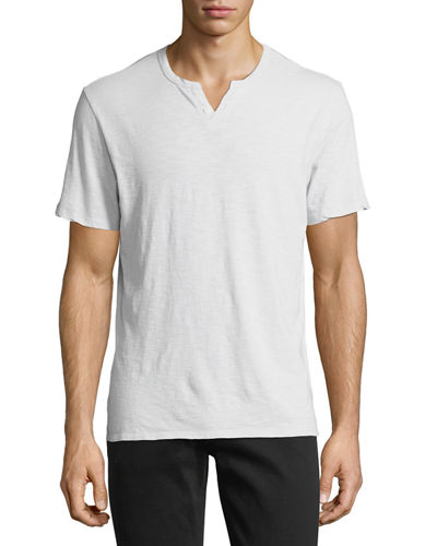 Joe's Jeans Short-Sleeve Slub Henley T-Shirt