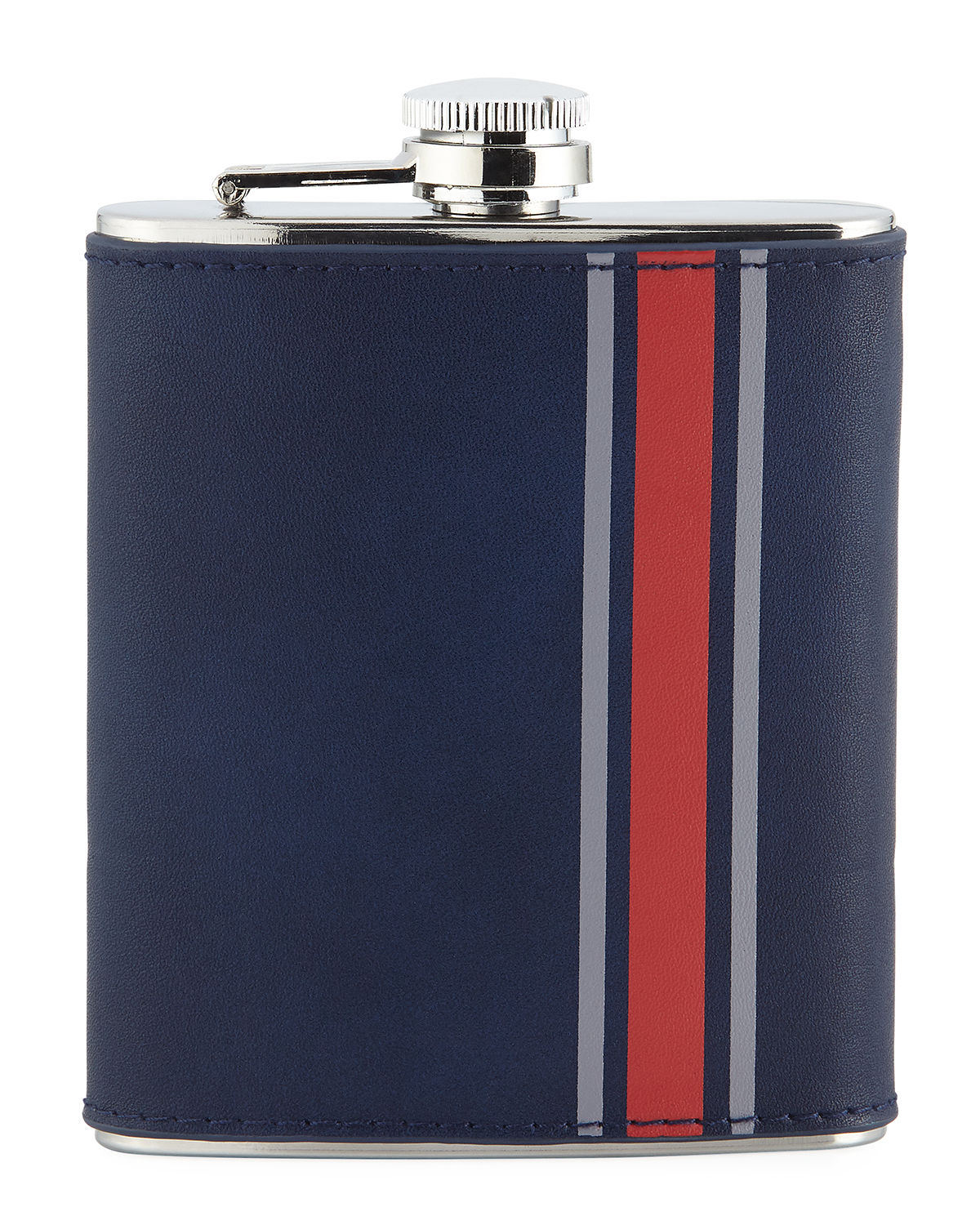 Striped Stainless Steel Flask