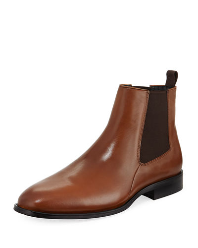 Gored Leather Chelsea Boot