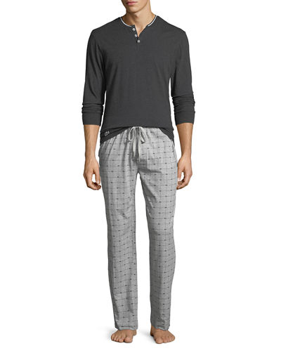 Henley Tee & Lounge Pants Set