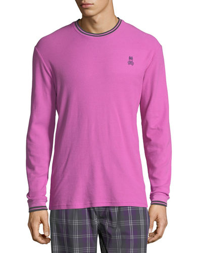 Classic Logo Jersey-Striped Thermal T-Shirt