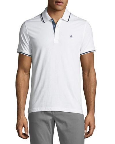 Contrast-Trim Short-Sleeve Polo Shirt
