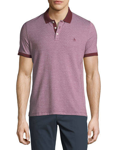 Penguin Birdseye-Dot Short-Sleeve Polo Shirt