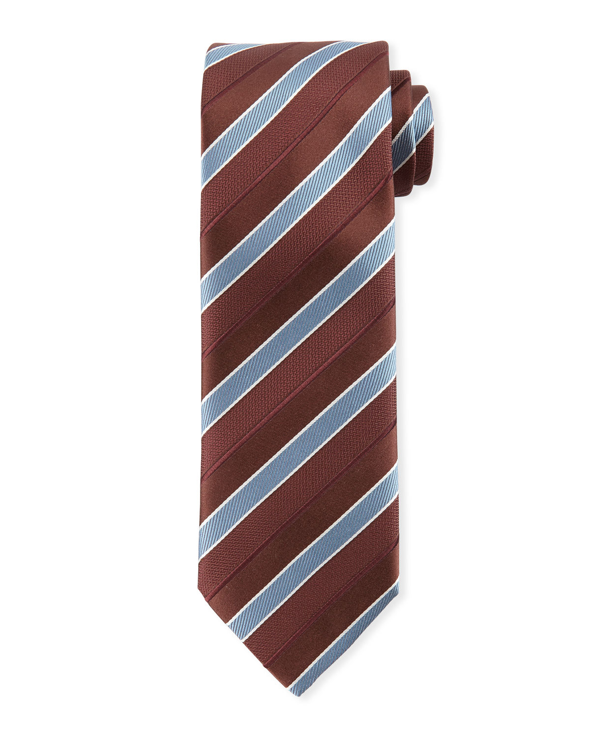 Brioni Ties STRIPED SILK TIE