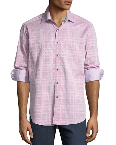 Tonal Plaid Sport Shirt