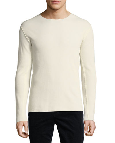 Raw-Edge Long-Sleeve T-Shirt