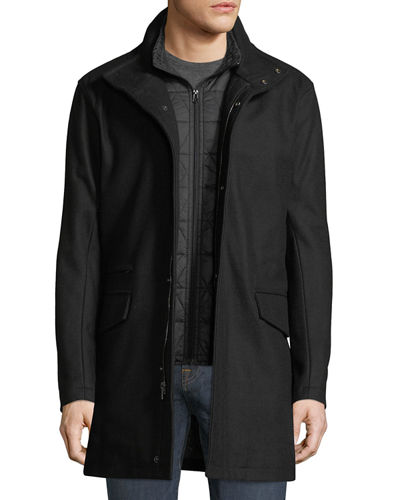 Stanford Wool-Blend Car Coat